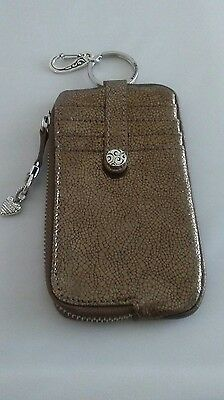 Brighton Twister  Id Card And Phone Wallet Animal Print Snake Gold Tone . E937A2