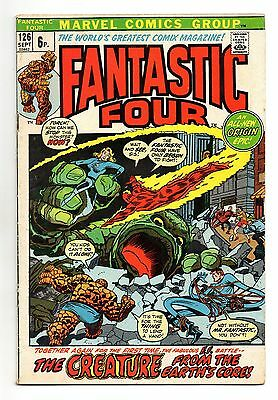 Fantastic Four Vol 1 No 126 Sep 1972 (FN+) Marvel, Bronze Age (1970 - 1979)