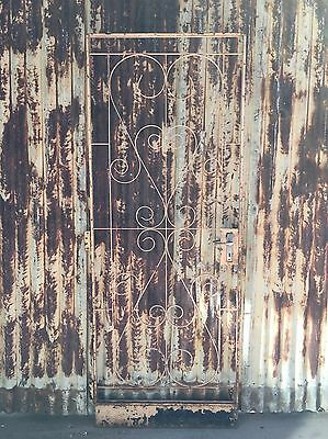 Old Metal Decorative Gate 770w X 2020h
