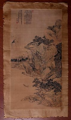 Excellent Rare Old Chinese Landscape Hand Painting Collectible Mark PP774
