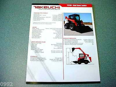 Takeuchi TS70V Skid Steer Loader Brochure