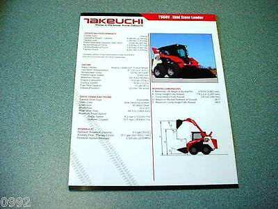 Takeuchi TS60V Skid Steer Loader Brochure