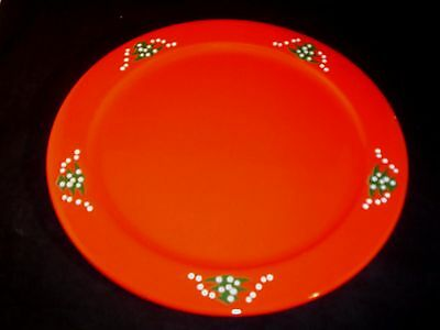 """Waechtersbach Christmas Tree Service Plate Charger 12 1/4"""" West Germany"""