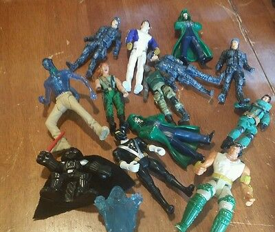 Lot of 14 Mixed Action Figure Toys