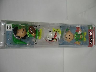 Peanuts Holiday Figurines (3) NIB Lucy, Snoopy & Charlie Brown