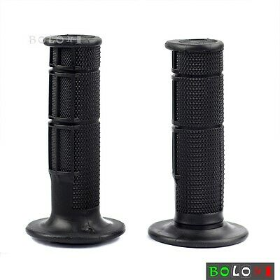 7/8'' Handlebar Dirtbike Hand Grips Gel Rubber Left & Right Black Custom Fit