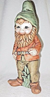 Vintage Hand Made & Decorated Ceramic Gnome - 12 Inches Tall