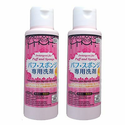 DAISO Make Up Sponge Cleanser Cosmetic Puff Detergent Cleaner Japan 80ml x 2
