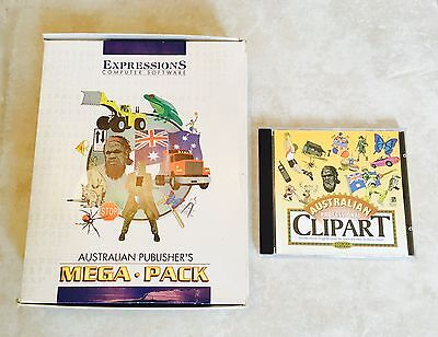 Australian Publisher's Mega Pack - CD with 2500 Clip Art Images & 150 Fonts