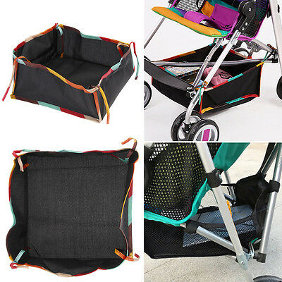 Universal Baby Stroller Pushchair Buggy Bottom Basket Storage Bag Organizer Hot