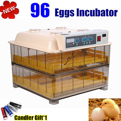 96 Digital Egg Incubator For Hatching Poultry EggsAutomatic  Chicken Incubators
