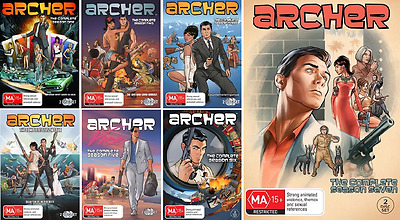 Archer - Season 1 2 3 4 5 6 7 : NEW DVD