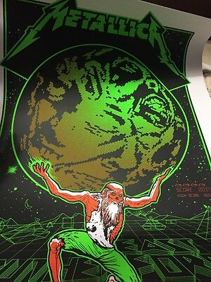 METALLICA METLIFE  EVENT POSTER  NY NJ 5/14 HARDWIRED 198/550 LITHOGRAPH Knob