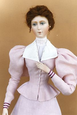 "FOR 24"" Lady Marion Doll 1895 Holiday Outing Dress Sewing Pattern #34"