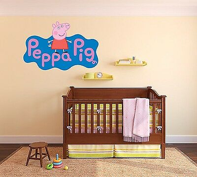 PEPPA PIG WALL decal decor for baby girls nursery decor 18 stickers