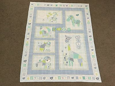 Jungle Animal Fabric Panel Zoo Lion Rhino Baby Nursery Cot Quilt Panel Patchwork