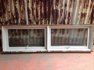 Long Timber Awning Window With Textured Glass 1700w X 520h
