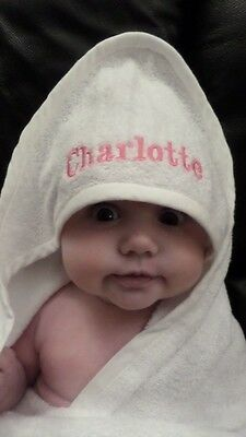 Personalised Embroidered Baby Hooded Towel