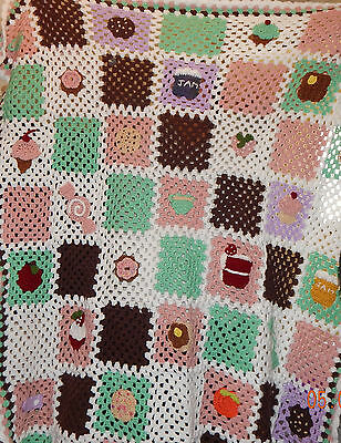Bake Shop Granny Square Throw Blanket