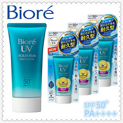 NEW 2018 DESIGN Kao Biore UV SPF50+ AQUA Rich Sunscreen Cream Made In Japan