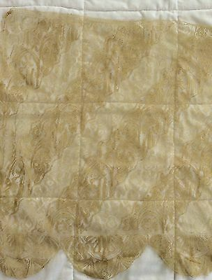 Antique silk Chantilly lace in Gold for doll dressing