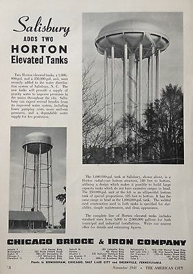 1948 Ad(F22)~Horton Elevated Water Tanks In Use In Salisbury, Nc.