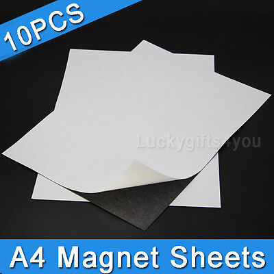 10X A4 Magnetic Magnet Sheets Self Adhesive 1.0mm Thickness Hand Crafts Material