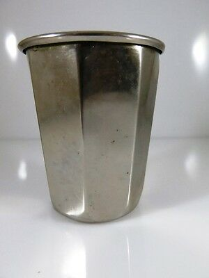 Rare Kiddush Cup Of Rivers  Shabbat & Holiday 925 Sterling Silver Plated Judaica