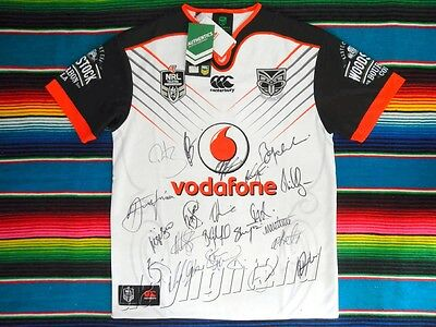 ✺Signed✺ 2017 NEW ZEALAND WARRIORS NRL Jersey PROOF COA