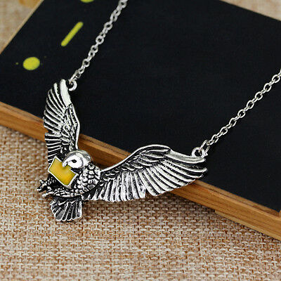 1Pc Post Hedwig Owl With The Letter Of Admission Pendant Harry Potter Necklace