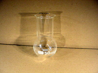 Round-Bottomed Flask 50 ml Contents Wide Neck destillierkolben Pistons