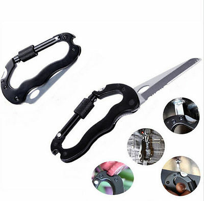Climbing Keychain Clip Outdoor Carabiner Aluminum Hook Buckle Key Chain D-Ring