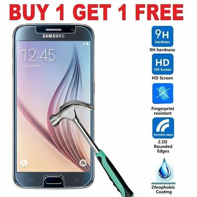 100% Genuine Tempered Glass LCD Screen Protector Film For Samsung Galaxy -S7