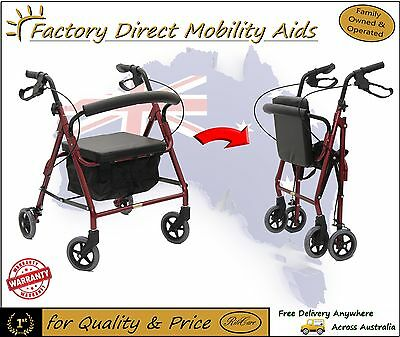 Mobility Rollator Low Seat Walker Comes with vinyl bag! Folding NEW