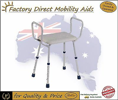 Ritecare Aluminium Shower Stool seat chair with arms height adjustable