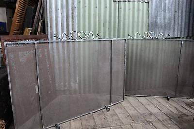 Second of Two Large Matching Wrought Iron Fire Screen 1430mm x 980mm