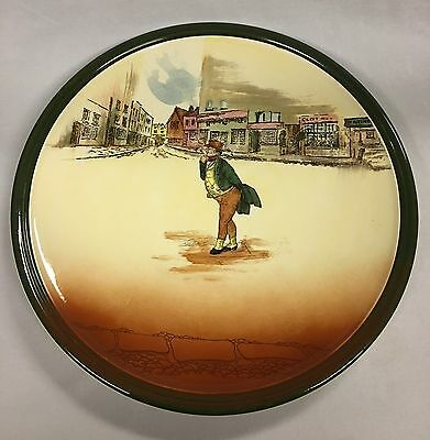 "Vintage Royal Doulton Dickens Ware ""Mr Pickwick"" Charger England 34cm"