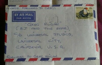 55c BIRD 1982 AIRMAIL COVER WITH LOVE LETTER TO TV STAR