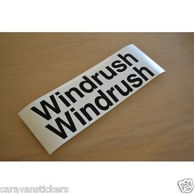 COTSWOLD Windrush S3 Caravan Name Stickers Decals Graphics - PAIR