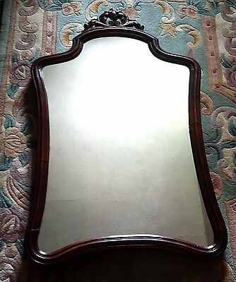 Large mahogany Mirror  Regency style 32 inches high  x 18 inches wide