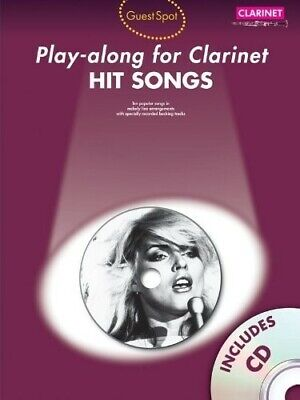 Guest Spot: Hit Songs - Play-Along For Clarinet - Sheet Music, CD - New Book