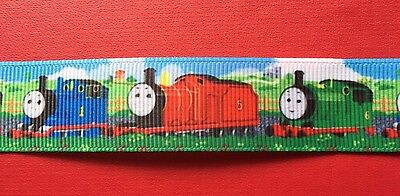 THOMAS & FRIENDS Grosgrain RIBBON 1 METRE X 22mm For Craft Hair Gifts Cakes