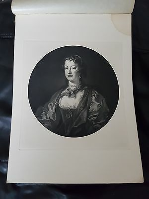 Portrait of Mrs Desaguliers - Antique Print