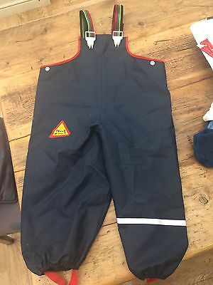 Baby Boys Waterproof Dungarees Size 80 Approx 12-18 Months