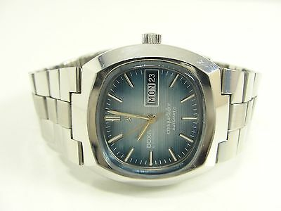 Doxa By Synchron Conquistador Automatic Daydate Vintage Watch Montre Orologio