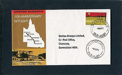 1972 50th Anniversary QANTAS 1st Flight Charleville To Cloncurry Limited Cover