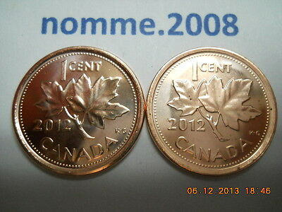 🌟2012🌟 Last year of Canada cent -- Magnetic and non-magnetic (BU)