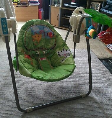 Fisher Price Baby Rainforest Swing, 5 speed and songs
