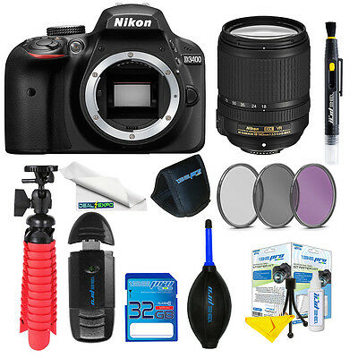 Nikon D3400 DSLR AF-S DX NIKKOR 18-140mm f/3.5-5.6G ED VR + Expo-Basic Kit