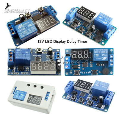 12V LED Buzzer Module Display Delay Timer Control Switch 2/3 Position +Case